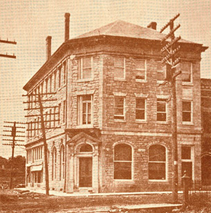 Old photo of the bank